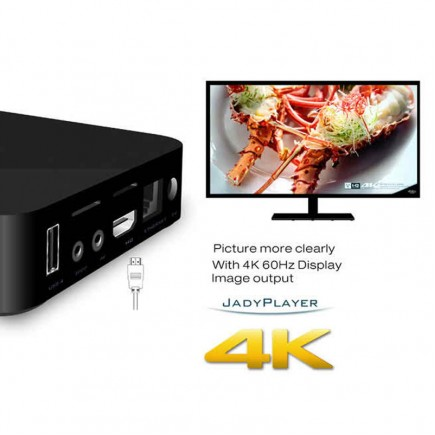 MXQ 4K KODI Smart Android TV Box 1GB Ram ,  8GB HDD