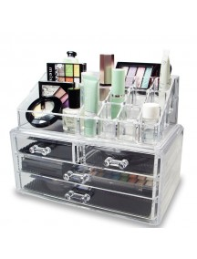 Acrylic Cosmetic Organizer with Drawer  Jewelry and Accessory Storage