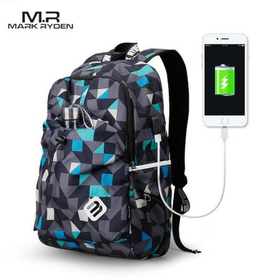 Mark Ryden 15.9 inch Student College Waterproof with USB Charging Port Backpack