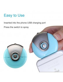 Portable Mist Nano Ionic Handy Humidifier For iOS Devices - Blue
