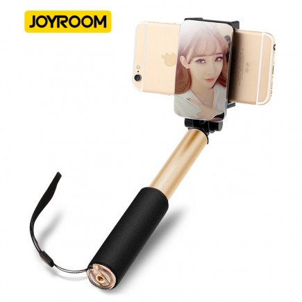 JOYROOM Selfie Stick For iOS & Android Devices with Selfie Remote  - Gold