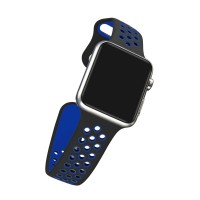 Limited Edition Nike+ Silicon Sports Band For Apple Watch 42MM - Black/Blue
