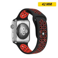 Limited Edition Nike+ Silicon Sports Band For Apple Watch 42MM - Black/Red