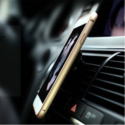 NILLKIN 360 Degrees Rotating Metal Frame+PC Back Case with Magnetic Car Air Vent For iPhone 6/6S - Gold