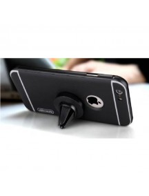 NILLKIN 360 Degrees Rotating Metal Frame+PC Back Case with Magnetic Car Air Vent For iPhone 6/6S - Black