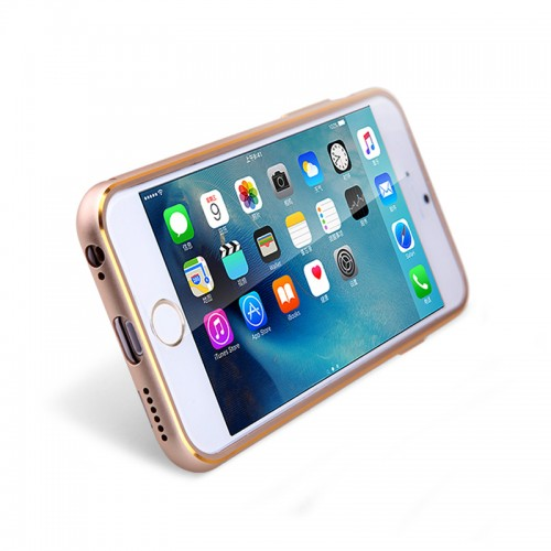 NILLKIN 360 Degrees Rotating Metal Frame+PC Back Case with Magnetic Car Air Vent For iPhone 6/6S - Rose Gold