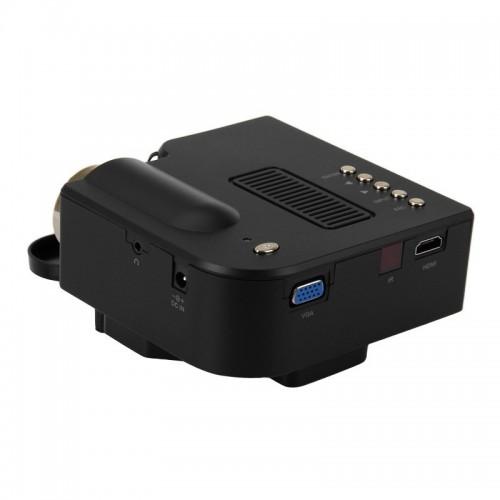 Multimedia Portable Mini LED Projector with HDMI , VGA ,  AV ,  USB ,  SD Card Slot