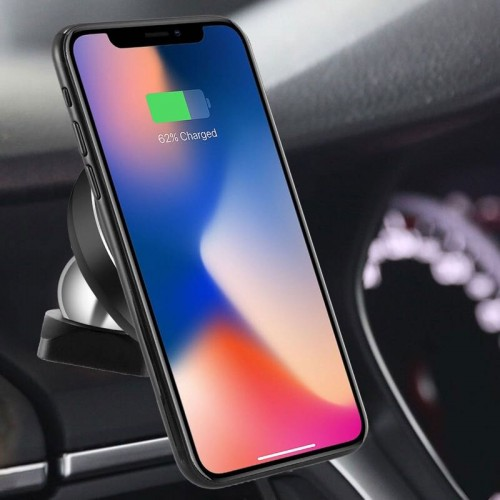 Wireless Qi Charging Car Mobile Holder For iPhone X , iPhone 8 , Note 8 , S8 - Copper