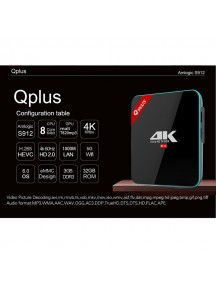 Q Plus 3 GB RAM and 32 GB HDD Amlogic S912 Android 6.0 TV BOX