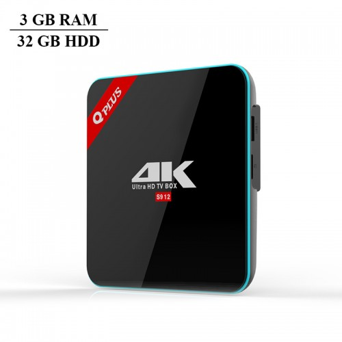 Q Plus 3 GB RAM and 32 GB HDD Amlogic S9...