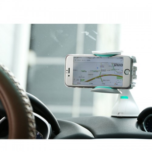 REMAX 360 Degree Rotating Car Windshield Mobile Holder For All Smartphones - Black/Yellow