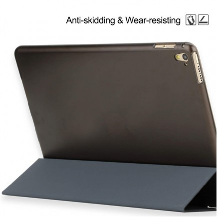 "ROCK Solid Triple Folding Flip PU Smart Case for Apple ipad pro 9.7"" inch - Black"