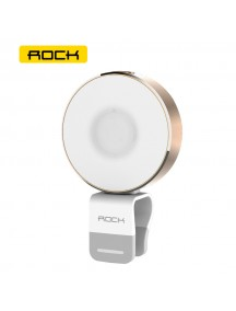 ROCK OMI LED light-Compensating Flash Selfie Light with Flexible Clip - Gold
