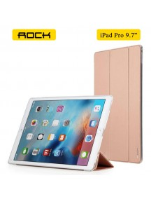 "ROCK Solid Triple Folding Flip PU Smart Case for Apple ipad pro 9.7"" inch - Rose Gold"