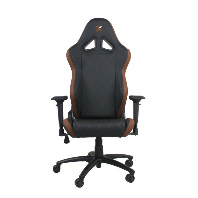 RapidX Ferrino Series Gaming Chair - Brown on Black
