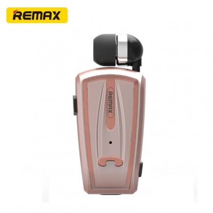 REMAX RB-T12 Clip-On Bluetooth Headset For All Smart Phones & Tablets - Gold