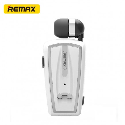 REMAX RB-T12 Clip-On Bluetooth Headset For All Smart Phones & Tablets - White