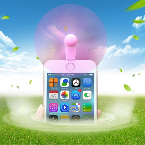 REMAX Portable Mini USB Fan For IOS Devices  - pink