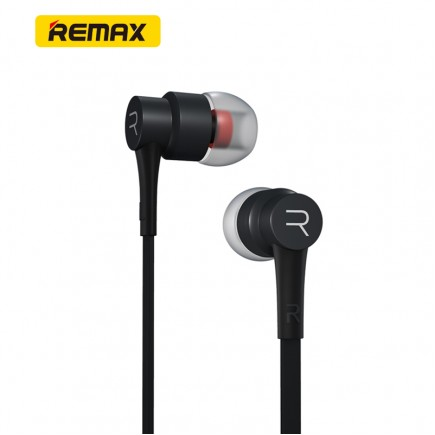 REMAX RM-535 Noise Isolating Stereo Hi-Fi with Mic In-Ear Wired Headphone - Black