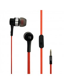 REMAX RM-535 Noise Isolating Stereo Hi-Fi with Mic In-Ear Wired Headphone - Red/Black