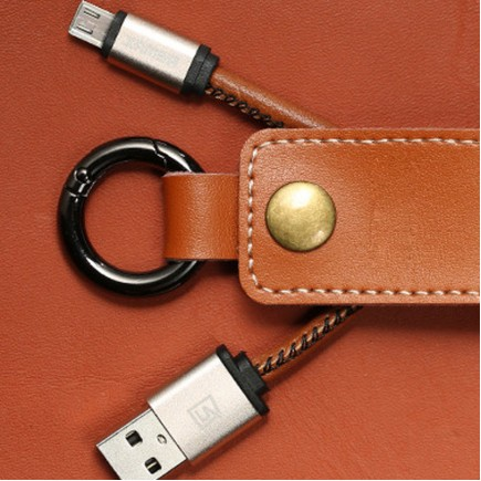 Portable Keychain Cable for Android Devices - Black