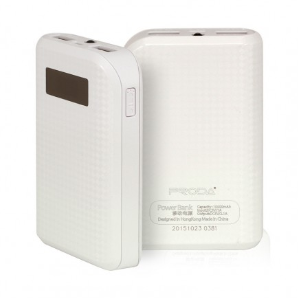 REMAX Prada 10000 mAh Power Bank For All Smart Phones & Tablets - White