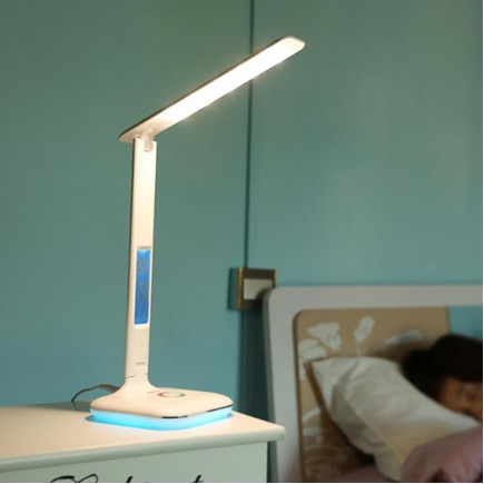 REMAX RL-E270 Dimmable LED Foldable Touch Sensitive USB Charging Table Lamp with Date & Time Display