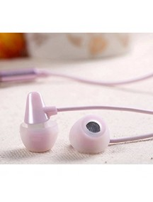 REMAX High Performance Ceramic In Ear Stereo Headphones - Pink