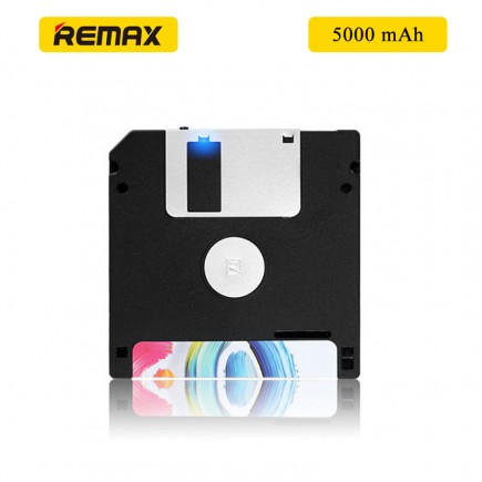 REMAX Flappy Dish Design 5000mAh Portable Power Bank for All Smartphones & Tablets - Black