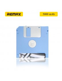 REMAX Flappy Dish Design 5000mAh Portable Power Bank for All Smartphones & Tablets - Blue