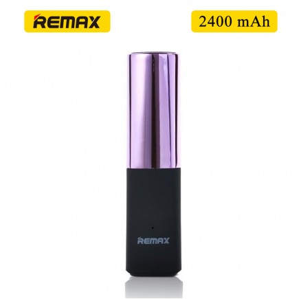 Remax MINI Lipmax 2400mAh Power Bank For Smartphones & Tablet - Pink