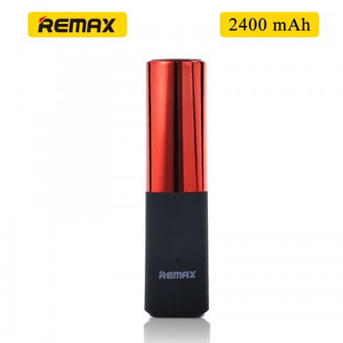 Remax MINI Lipmax 2400mAh Power Bank For Smartphones & Tablet - Red