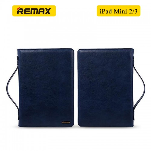 REMAX Ranger 2 in 1 Multi-Functional PU Leather Versatile Clutch Hand Bag for iPad Mini 2/3 - Blue
