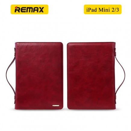 REMAX Ranger 2 in 1 Multi-Functional PU Leather Versatile Clutch Hand Bag for iPad Mini 2/3 - Red