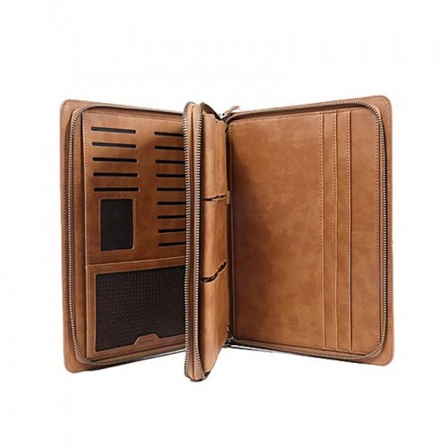 REMAX Ranger 2 in 1 Multi-Functional PU Leather Versatile Clutch Hand Bag for iPad Mini 2/3 - Brown