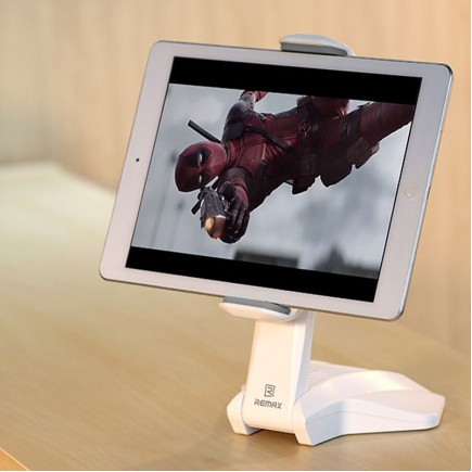 "REMAX RM-C16 360° Rotating Flexible Tablet Holder For 7""-15"" Tablet - White"
