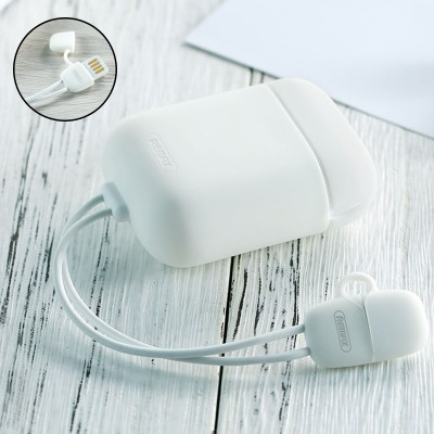 Remax RC-A6 Silicon Protective Case For Apple Airpods with Charging Cable