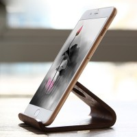 SAMDI Wooden Stand For All Smart Phones - Wallnut Wood