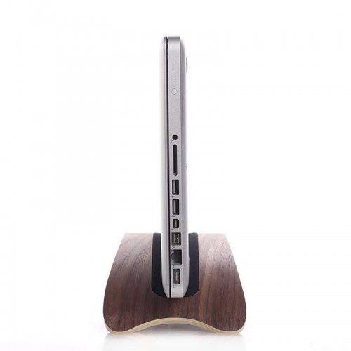 SAMDI Natural Wood Lightweight Wooden Laptop Stand Holder