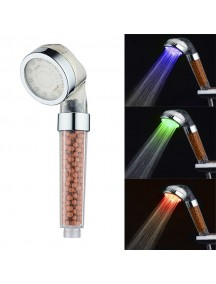 Colorful Temperature Control Hand Held Water Purifier Shower Head