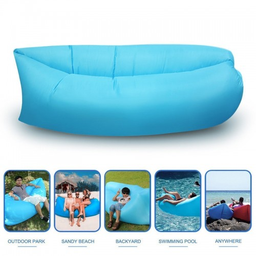 Fast Inflatable Lazy Sofa Bag , Sleeping...