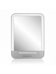 LED Cosmetic Portable Makeup Mirror  with Stand & 3-Level Dimmer - Gray