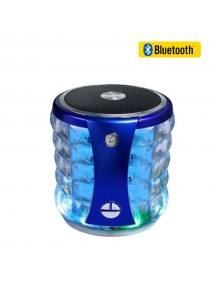 MINI Portable Bluetooth Speaker with LED Light For All Smart Phones & Tablet - Blue