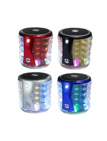 MINI Portable Bluetooth Speaker with LED Light For All Smart Phones & Tablet - Silver
