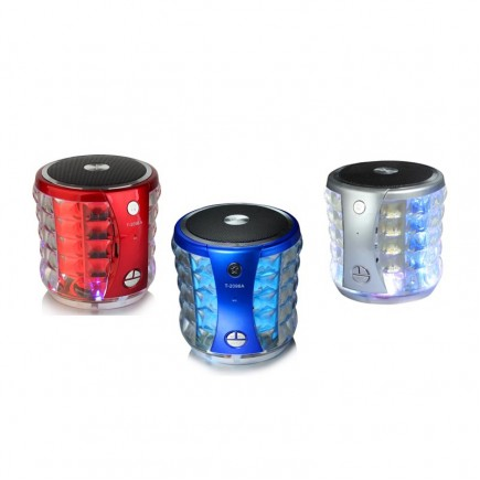MINI Portable Bluetooth Speaker with LED Light For All Smart Phones & Tablet - Red