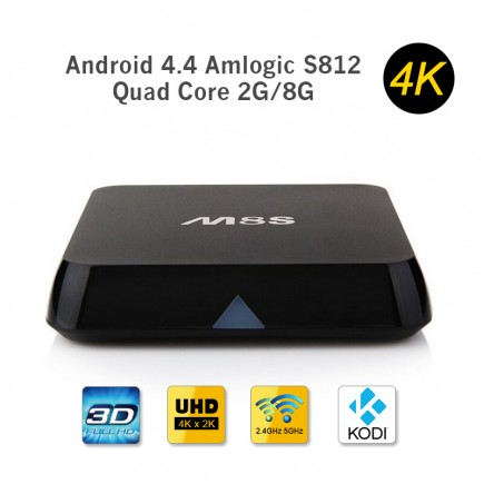 HEVC KODI 4K OTT TV Box 2GB RAM / 8GB HDD