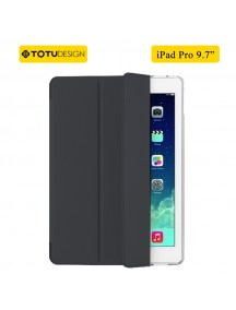 "TOTU DESIGN Leather Smart Air Series Triple Folding Slim Case for iPad Pro 9.7"" - Black"