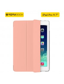 "TOTU DESIGN Leather Smart Air Series Triple Folding Slim Case for iPad Pro 9.7"" - Rose Gold"