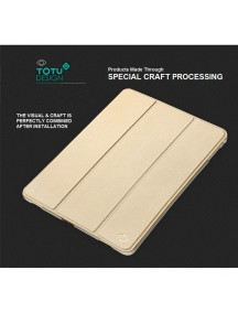"TOTU DESIGN Leather Smart Air Series Triple Folding Slim Case for iPad Pro 9.7"" - Gold"