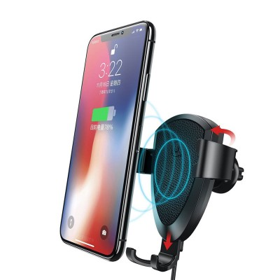 USAMS Wireless Charger Car Air Vent Qi Wireless Car Charger For iPhone X , iPhone 8 , S9 , Note 8